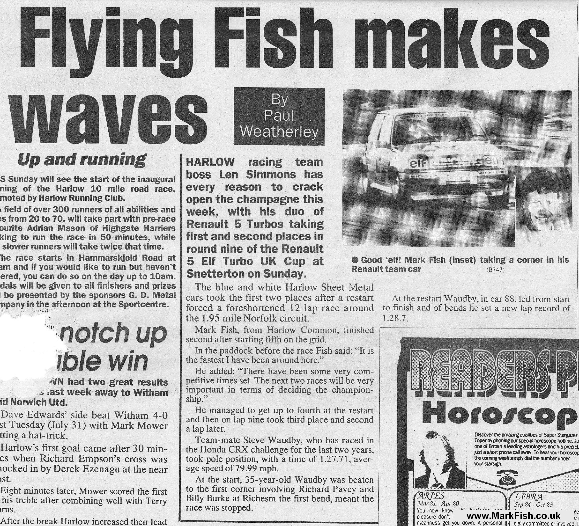 Fish Pun Headlines Mark Fish Motorsport